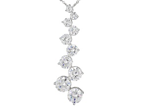 Pre-Owned White Cubic Zirconia Rhodium Over Sterling Silver Pendant With Chain 10.65ctw