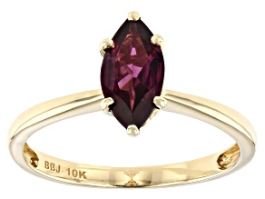 Pre-Owned Grape Color Garnet 10k Yellow Gold Ring 0.92ctw