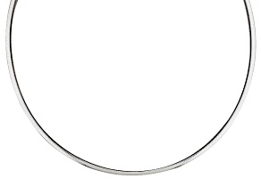 Pre-Owned Sterling Silver Omega Link Chain Necklace