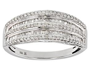 Pre-Owned White Diamond 10k White Gold Ring 0.50ctw