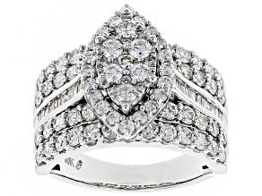 Pre-Owned White Diamond 10k White Gold Ring 2.33ctw