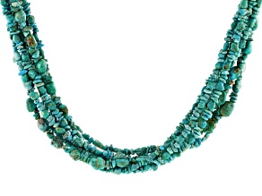 Pre-Owned Kingman Turquoise Silver Necklace