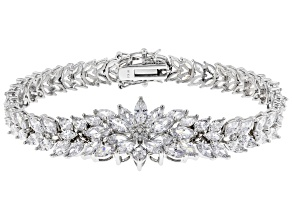 Pre-Owned White Cubic Zirconia Rhodium Over Sterling Silver Bracelet 39.63ctw