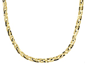 Pre-Owned 18K Yellow Gold Over Sterling Silver Braided Herringbone Necklace 20