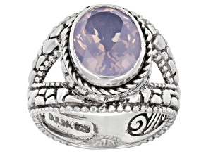 Pre-Owned Lavender Moon Quartz Silver Solitaire Ring 2.75ctw