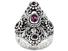 Pre-Owned Malaia Garnet Sterling Silver Ring 1.78ctw