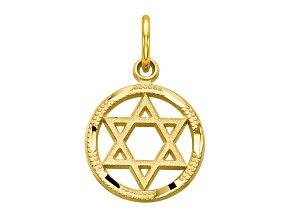 Pre-Owned 10k Yellow Gold Star Of David Charm