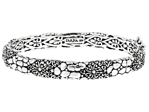 """Pre-Owned Sterling Silver """"What Is Right And True"""" Bangle Bracelet"""
