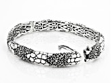 "Pre-Owned Sterling Silver ""What Is Right And True"" Bangle Bracelet"