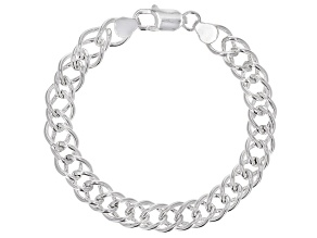 Pre-Owned Sterling Silver Double Marquise Bracelet