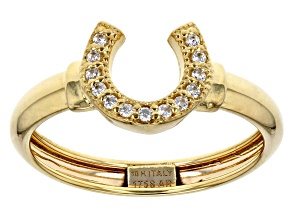 Pre-Owned 0.13 Ctw 10k Yellow Gold Horseshoe Ring