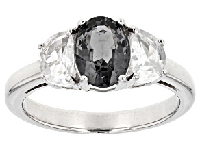 Pre-Owned Gray Spinel Sterling Silver Ring 1.99ctw
