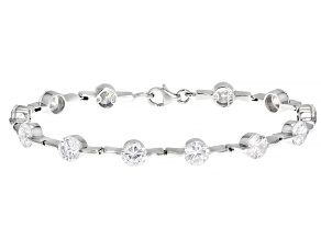 Pre-Owned White Cubic Zirconia Rhodium Over Sterling Silver Bracelet 5.00ctw
