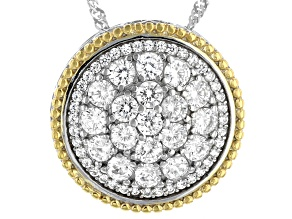 Pre-Owned White Cubic Zirconia Rhodium Over Sterling Silver Pendant With Chain 3.25ctw (1.72ctw DEW)