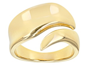 Pre-Owned 18K Yellow Gold over Sterling Silver Bypass Polished Band Ring