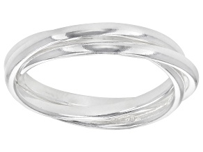 Pre-Owned Sterling Silver Polished Triple Band Ring