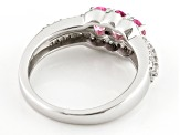 Pink Spinel Sterling Silver Ring 1.01ctw