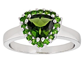 Green Chrome Diopside Sterling Silver Ring 1.32ctw