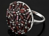 Red Garnet Sterling Silver Ring 4.55ctw