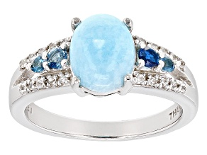 Blue Hemimorphite Sterling Silver Ring 2.23ctw