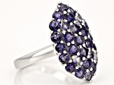 Purple Iolite Sterling Silver Ring 2.85ctw