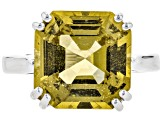 Yellow apatite sterling silver ring 7.61ct