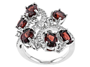 Red Garnet Sterling Silver Ring 5.75ctw