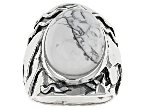 White Magnesite Sterling Silver Ring