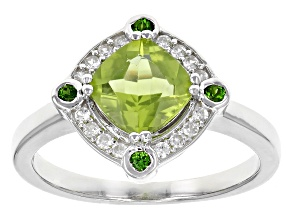 Green Peridot Sterling Silver Ring 1.52ctw