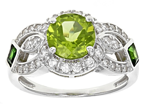 Green Peridot Sterling Silver Ring 2.33ctw