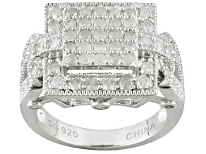 Diamond Sterling Silver Ring 1.52ctw