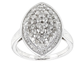 Diamond Silver Ring 1.00ctw