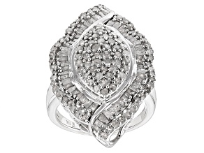 Diamond Sterling Silver Ring 2.00ctw