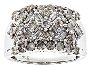 Diamond Ring 10k White Gold 1.50ctw.
