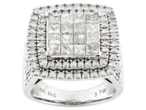 Diamond 10k White Gold Ring 3.00ctw