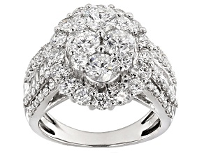 Diamond 14k White Gold Ring 3.00ctw