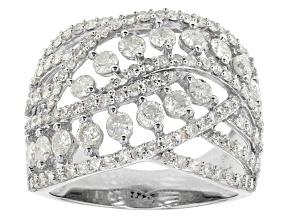 Diamond 10k White Gold Ring 1.75ctw