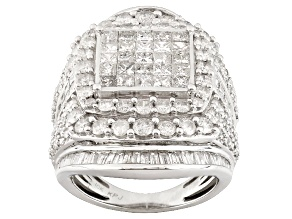 Diamond 10k White Gold Ring 4.70ctw