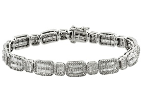 Diamond 10k White Gold Bracelet 4.50ctw