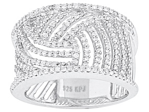 Diamond, .66ctw Round, Rhodium Over Sterling Silver Ring