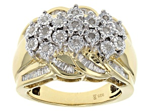 Diamond 14k Gold Over Silver Ring .50ctw