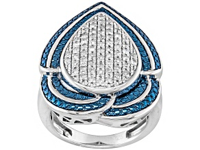 Diamond Sterling Silver Ring .50ctw