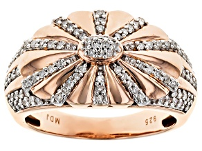 Diamond 18k Rose Gold Over Sterling Silver Ring .40ctw