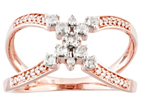 Diamond 18k Rose Gold Over Silver Ring .25ctw
