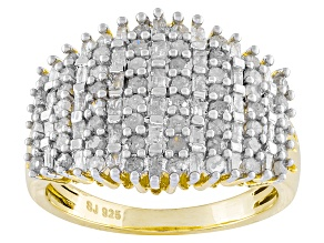 Diamond 14k Yellow Gold Over Silver Ring 1.10ctw