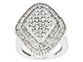 Diamond 10k White Gold Ring 1.75ctw