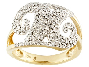 Diamond 14k Gold Over Silver Ring .63ctw