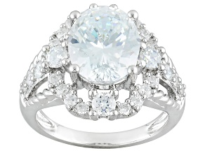 Cubic Zirconia Sterling Silver Ring 8.20ctw (4.79ctw DEW)