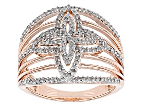 14k Rose Gold Over Sterling Silver Diamond Ring .40ctw
