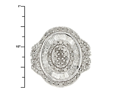 Diamond 10k White Gold Ring 1.85ctw